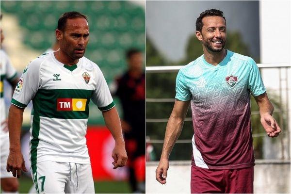 Nino, do Elche, e Nenê, do Fluminense
