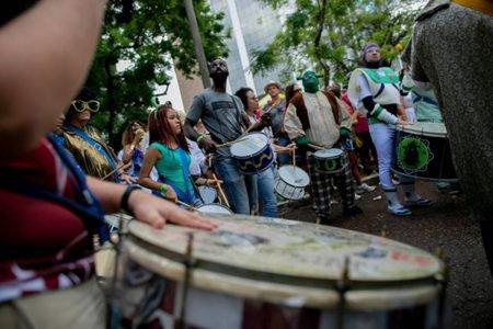 Bloco Galo Cego animou o pré-carnaval na área central de Brasília, em 2020