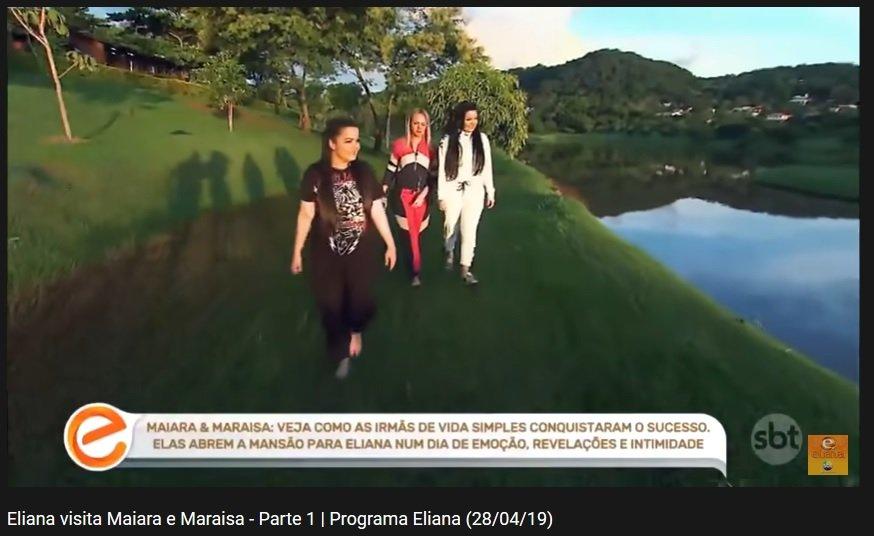 Eliana com Maiara e Maraísa