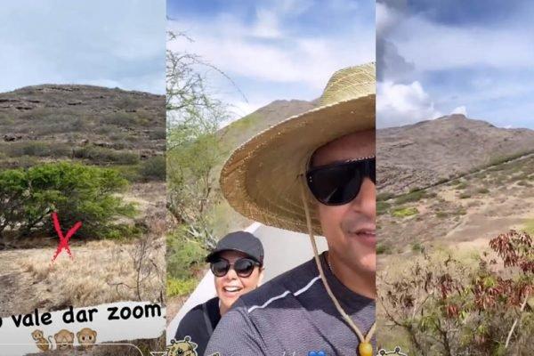 Carla Perez e Xandy estão no Havai