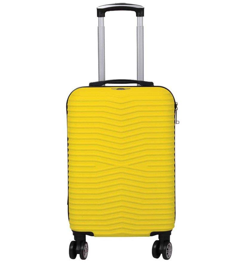 Mala de viagem de bordo amarela Santino