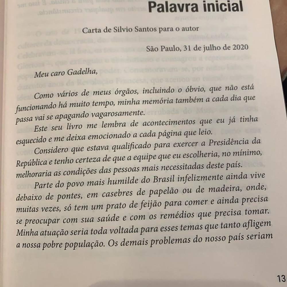 Carta de Silvio Santos
