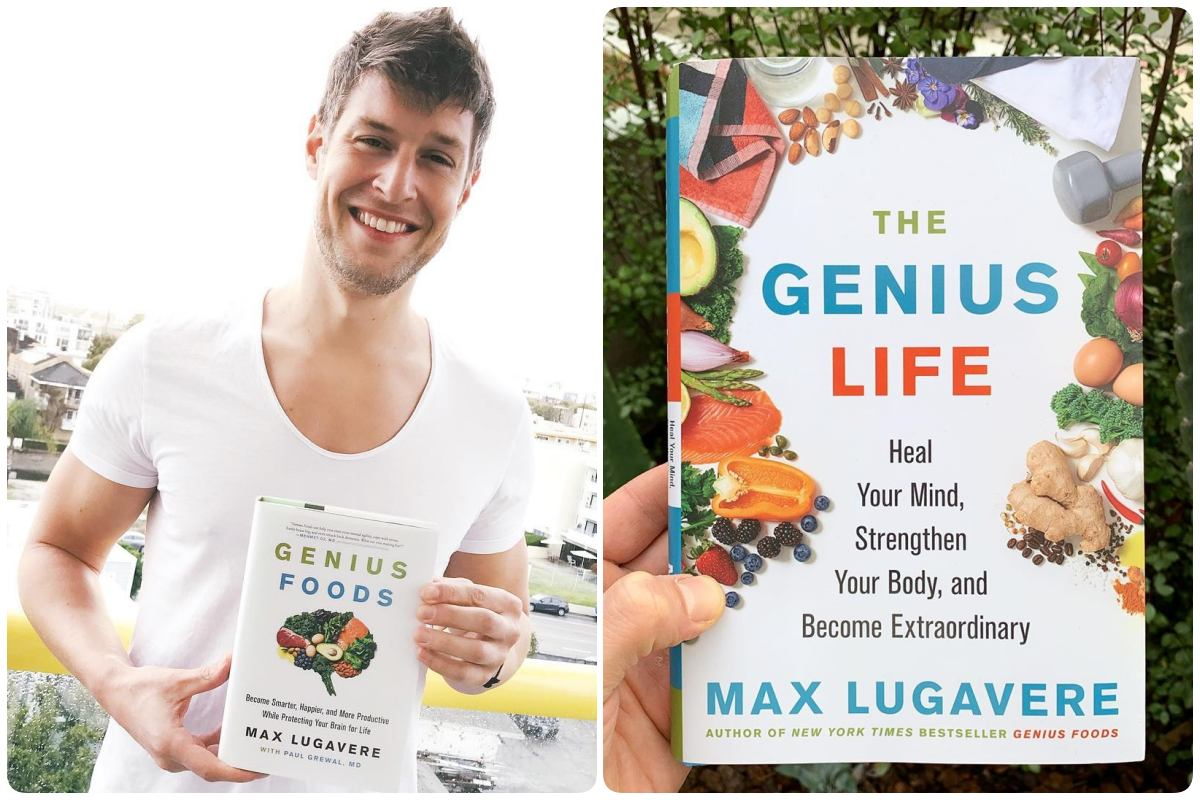livros Genius Foods e Genius Life