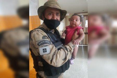 bebê salva por PMs em Planaltina