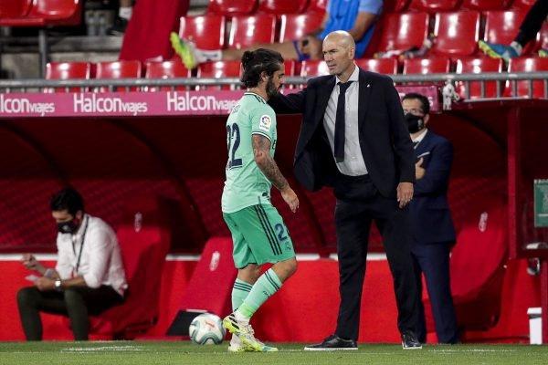 Isco e Zidane no Real Madrid