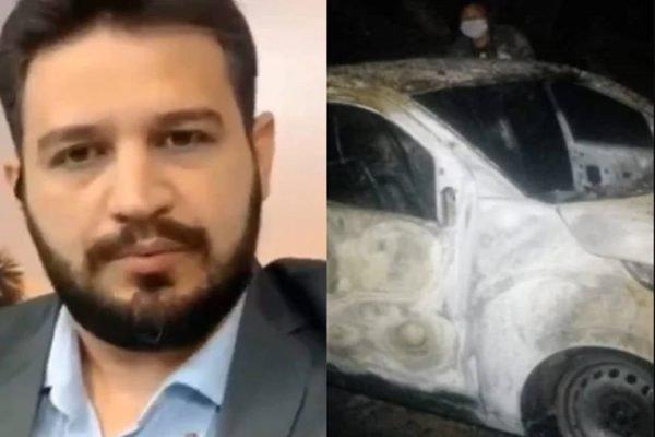 Jornalista Romano dos Anjos, raptado por homens encapuzados e que teve o carro incendiado