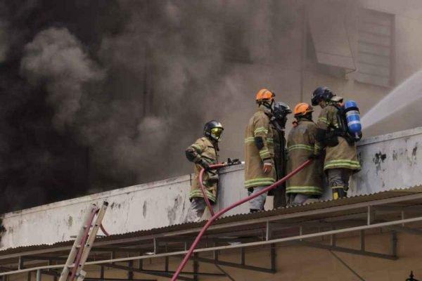 incêndio hospital rio