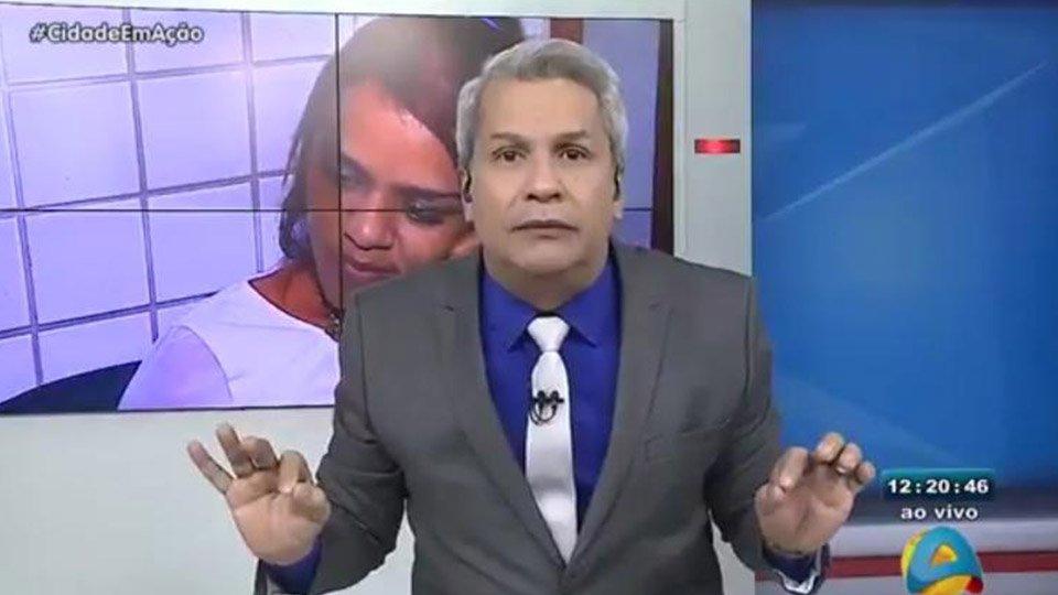 Sikêra Junior no programa Cidade em Ação, de afiliada da RedeTV! na Paraíba