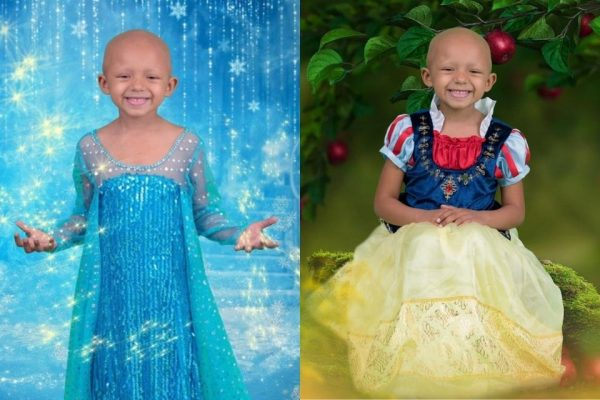 Fotógrafa transforma menina com câncer avançado em princesas da Disney