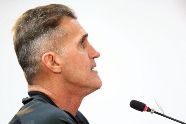 Vagner Mancini em entrevista coletiva do Corinthians