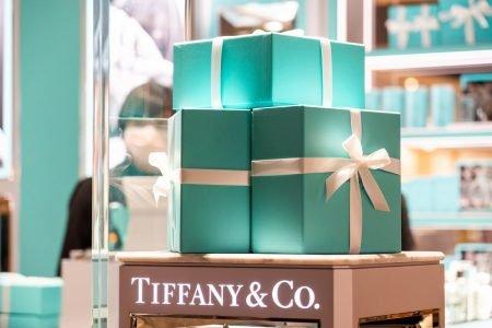 Caixas em loja da Tiffany & Co.