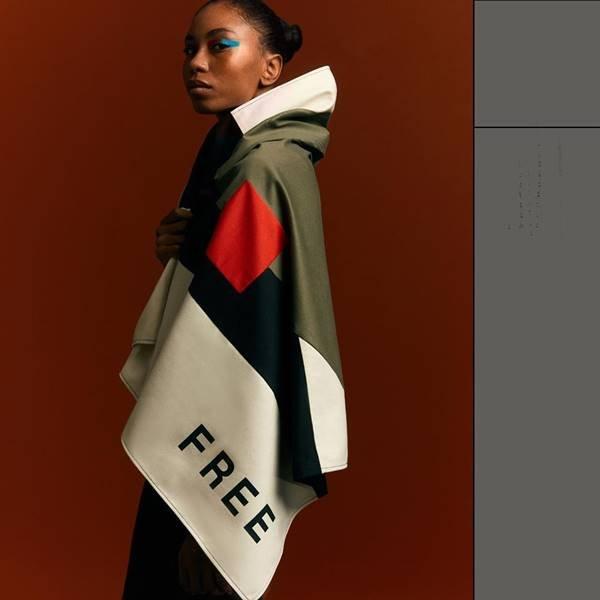 Look da marca Freiheit, estreante do SPFW 25 Anos