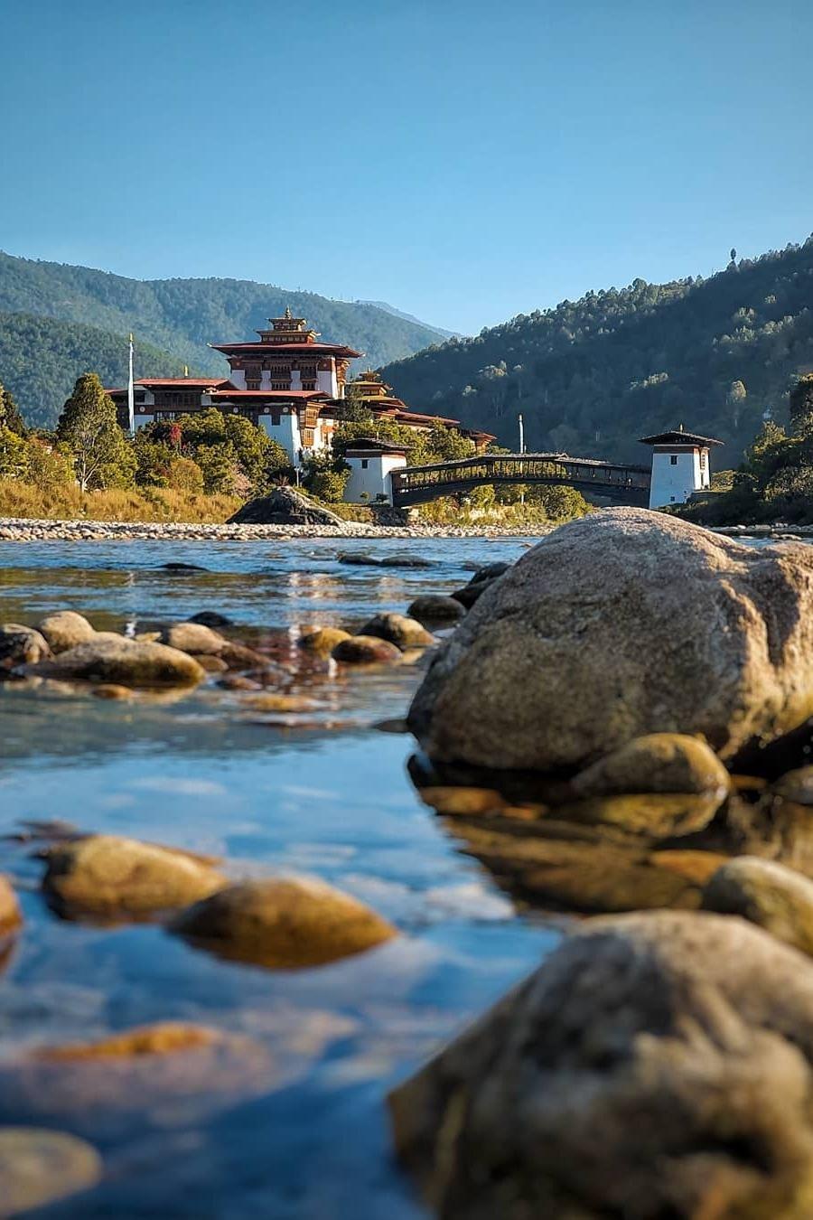 Cidade de Punakha, no Butão