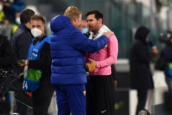 Koeman e Messi no Barcelona
