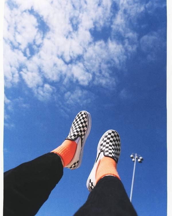 Tênis da Vans com estampa Checkerboard
