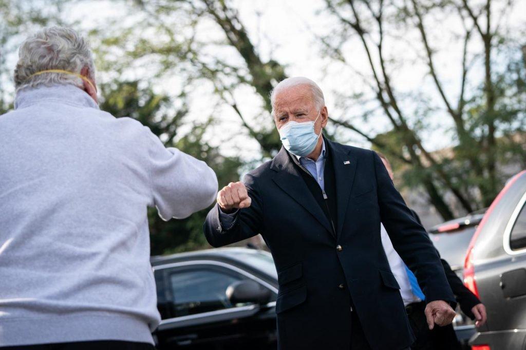Joe Biden durante campanha eleitoral nos EUA 2020