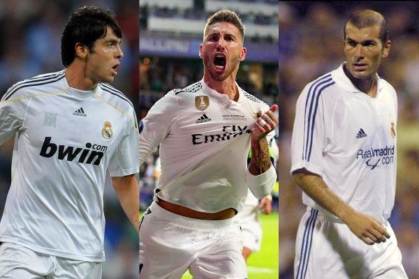 Kaká, Sergio Ramos e Zidane