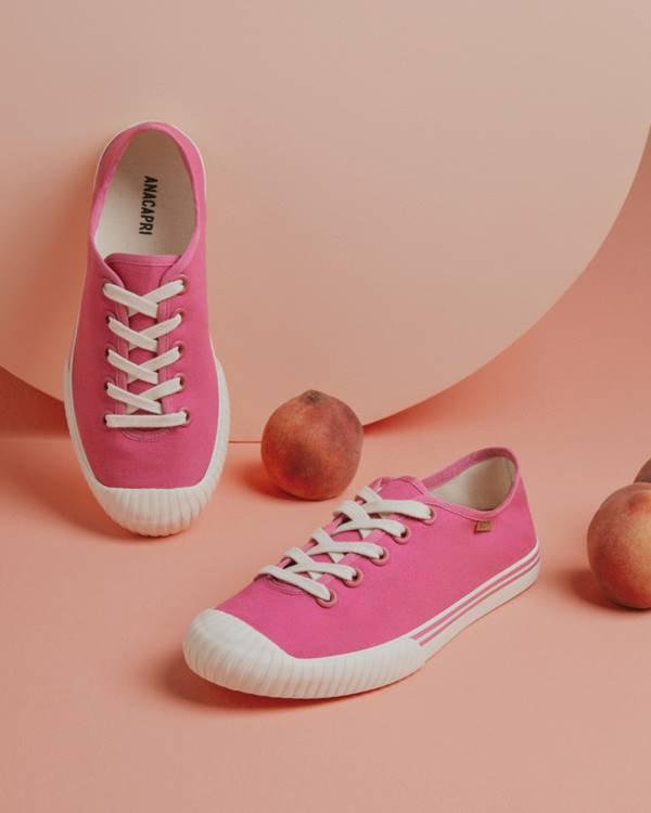 Tênis rosa da Anacapri