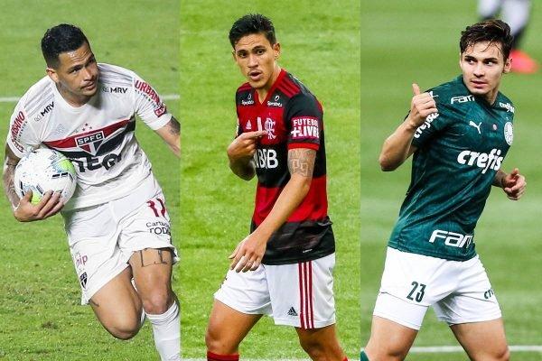 São Paulo, Flamengo e Palmeiras
