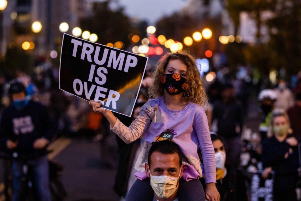 Manifestações após vitória de Joe Biden