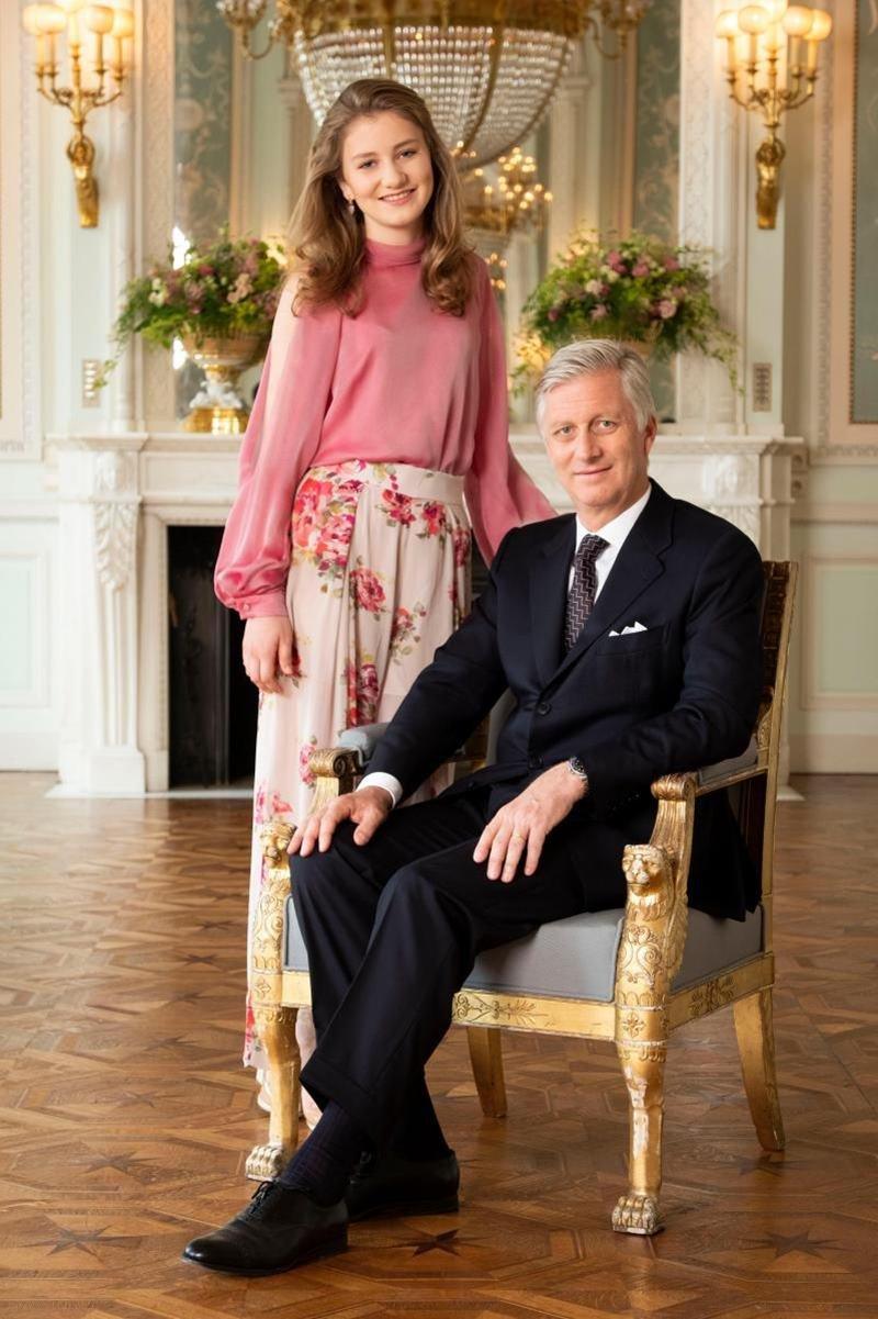Princesa Elisabeth da Bélgica e o pai