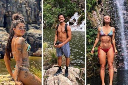Aline Riscado, Rodrigo Simas e Bruna Griphao