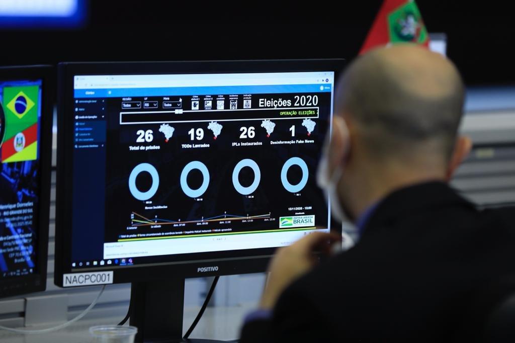 Operação Eleições 2020 no Centro Integrado de Comando e Controle Nacional (CICCN). Fotos Igo Estrela/Metrópoles