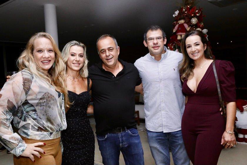Renata La Porta, Flávia Toledo, Eduardo Toledo, Marcus Vinicius e Ana Paula Figueiredo