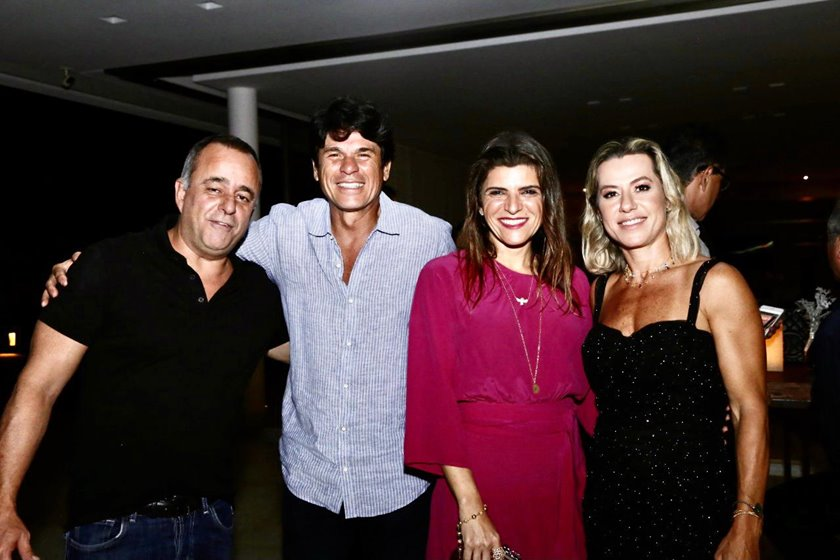 Eduardo Toledo, Flávio Alencastro, Karina Lima e Flávia Toledo
