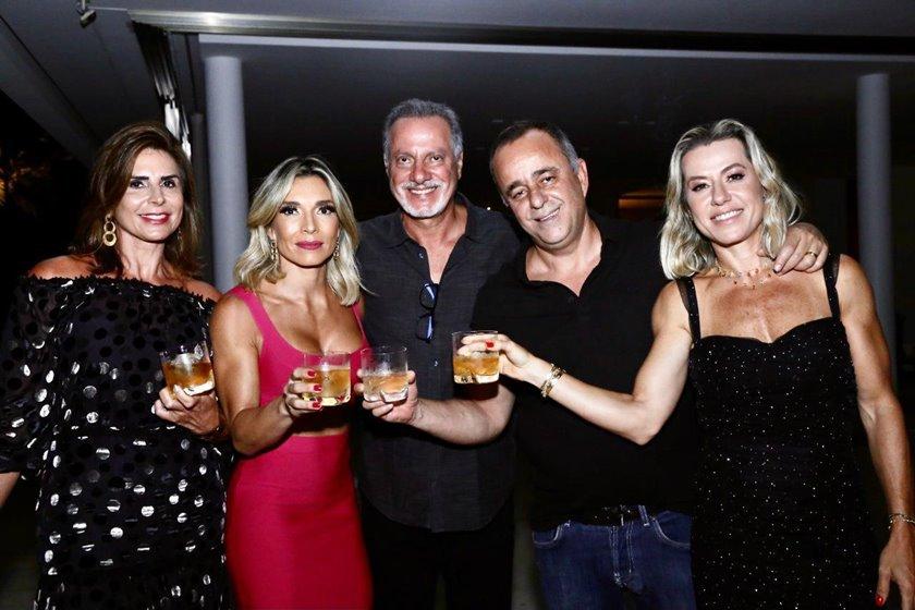 Valéria Allam, Titi Simões, Nasser Allam, Eduardo Toledo e Flávia Toledo