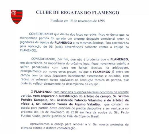 Flamengo documento