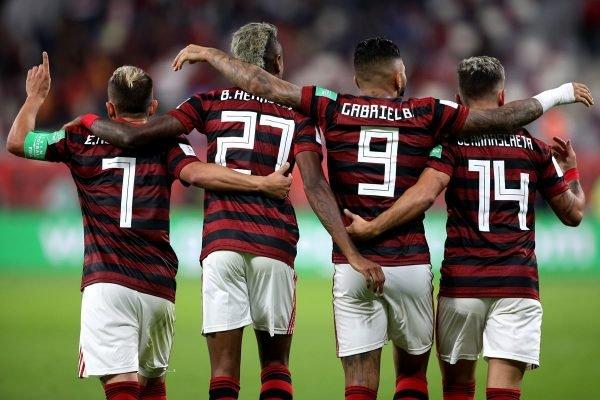 Everton Ribeiro, Bruno Henrique, Gabigol e Arrascaeta