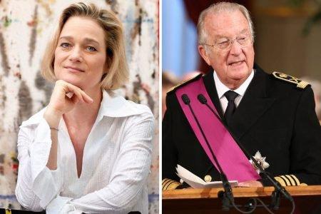 Princesa Delphine e ex-rei Albert