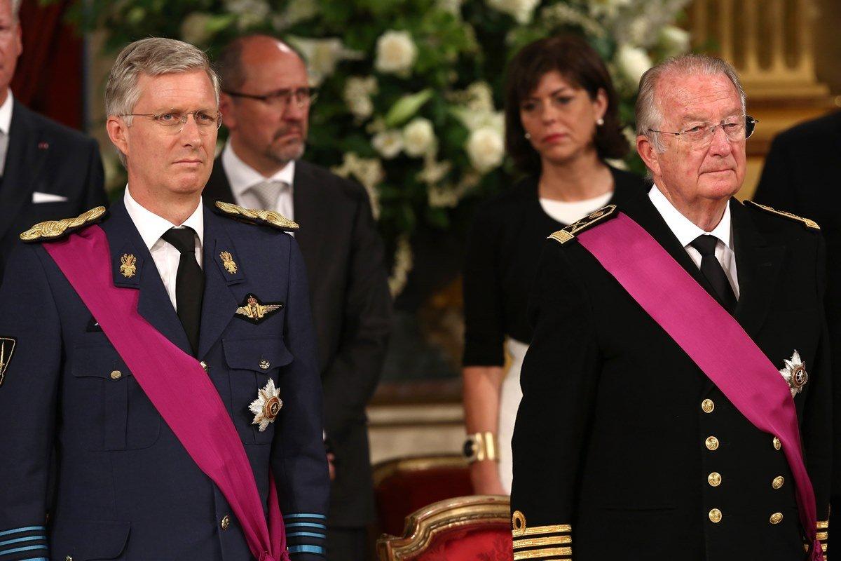 Príncipe Philippe e rei Albert