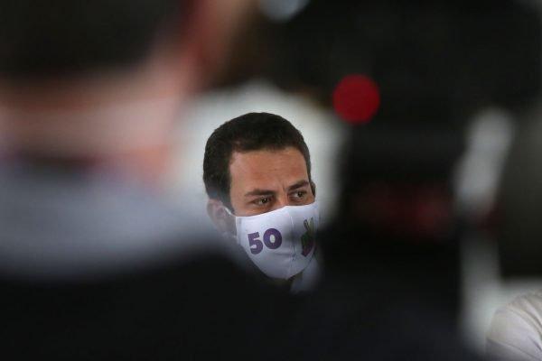 Guilherme Boulos (PSOL), candidato à prefeitura de São Paulo e Orlando Silva