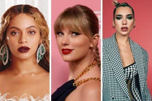 Beyoncé, Taylor Swift e Dua Lipa integram lista