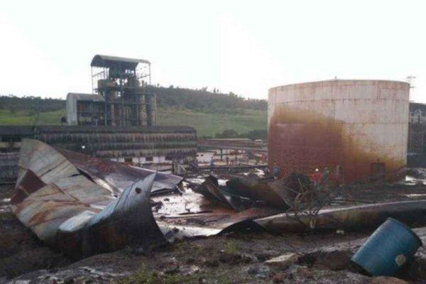 Tanque de melaço de usina se rompe em Campo Alegre, Alagoas