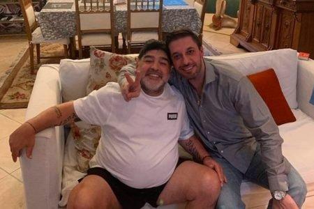 Matias Morla, advogado de Maradona, com o craque