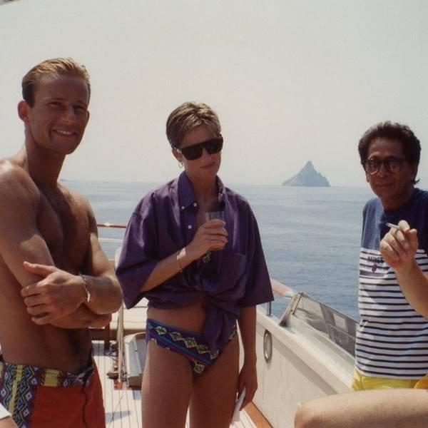 Príncipe Kyril de Preslav, princesa Diana e Valentino Garavani