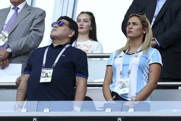 Maradona e ex-namorada
