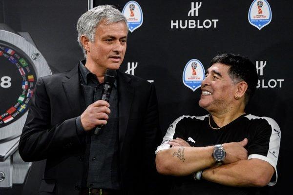 Mourinho e Maradona