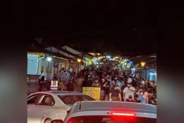 Aglomeração em Pirenópolis durante a pandemia