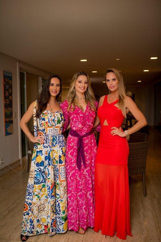 Kheli Abreu, Carol Kalil e Sarah Fischer
