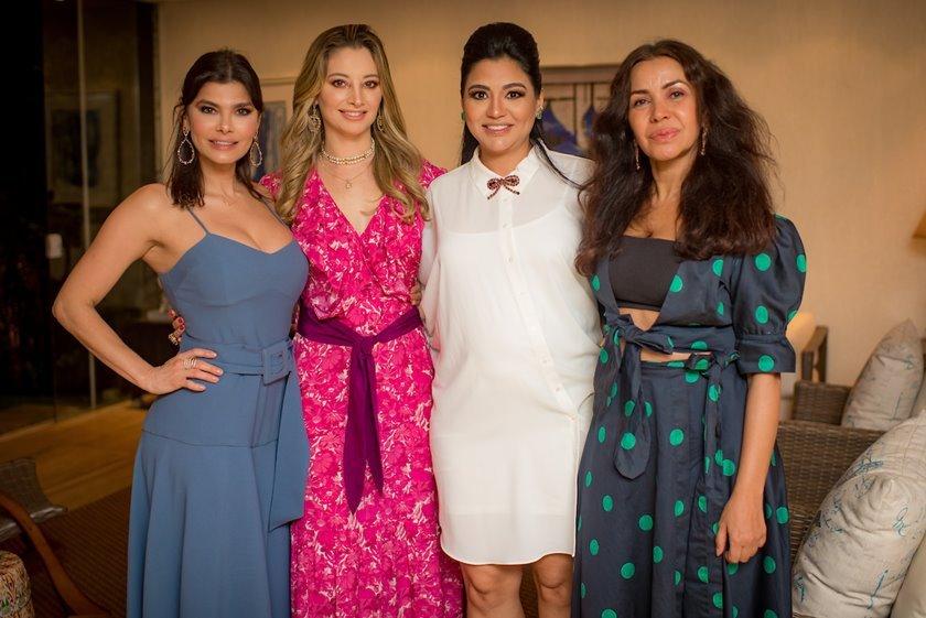 Claudia Andrade, Carol Kalil, Clarice Lagares e Claudia Meireles