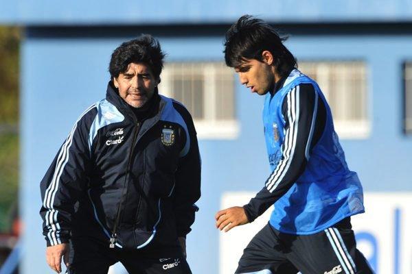 Maradona e Aguero