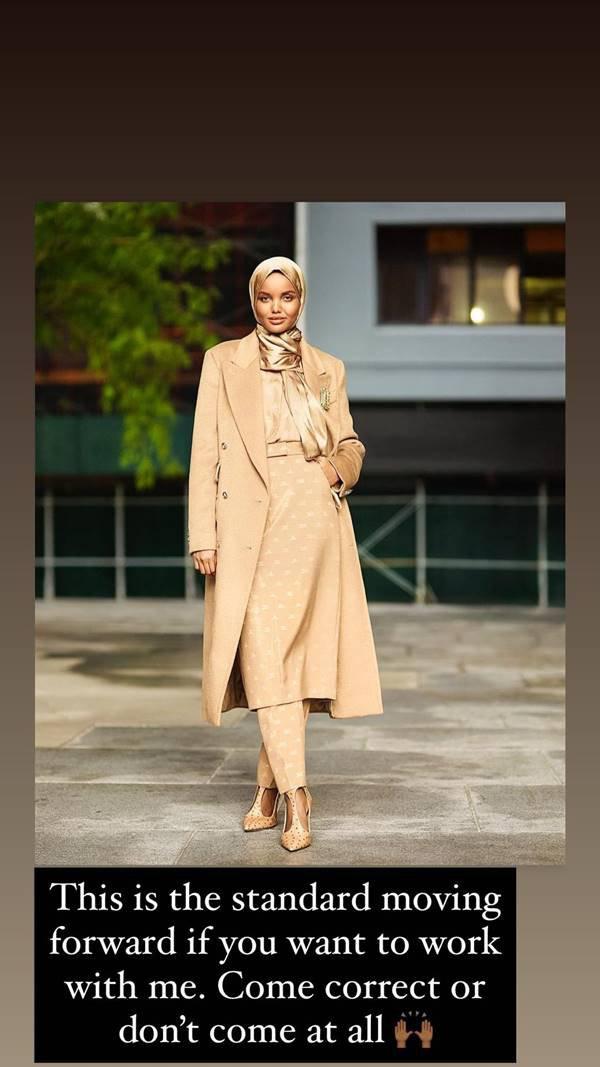 Publicação da modelo Halima Aden