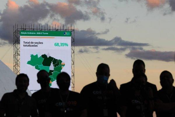 tse eleicoes 2020 brasil telao TSE