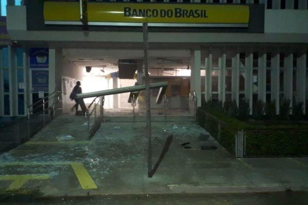 Fachada do Banco do Brasil em Cametá alvejada por tiros