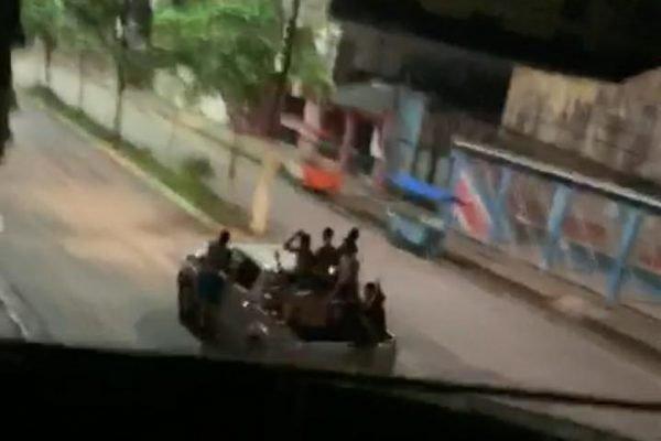 Carro com parte do bando em Cametá