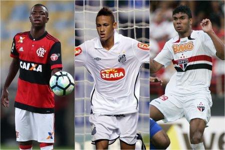 Vinicius, Neymar e Casemiro